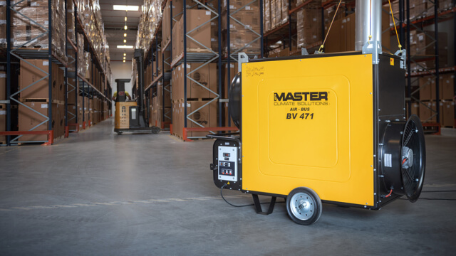 Master warehouse heating web