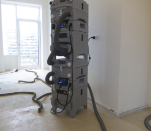 Aerial AERCUBE tower water damage restoration