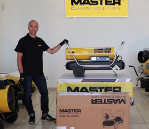 Master B 150 direct oil fired air heater EN
